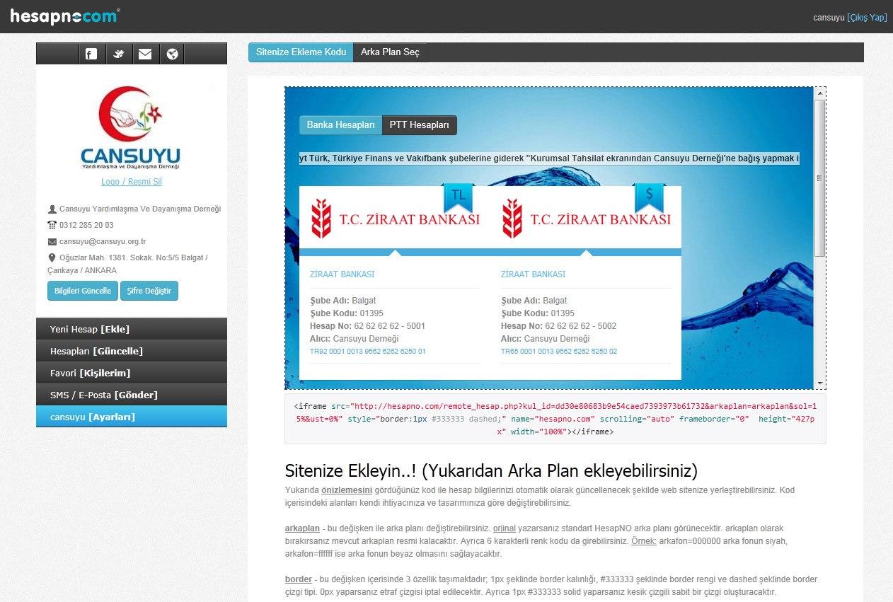 hesapno_sitene-ekle_arka-plan-olusturma_fonksiyonu